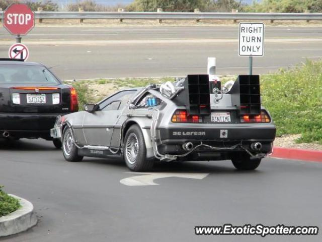 DeLorean DMC-12 spotted in Newport, California