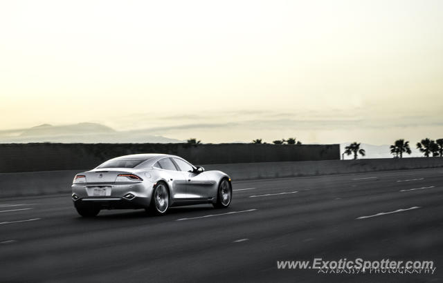 Fisker Karma spotted in 405 Freeway, California