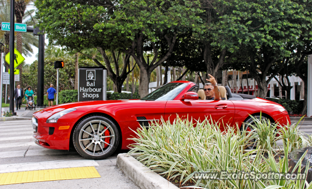 Mercedes SLS AMG spotted in Miami, Florida