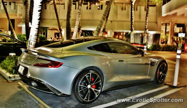 Aston Martin Vanquish Spotted In Miami Florida On - Aston martin florida