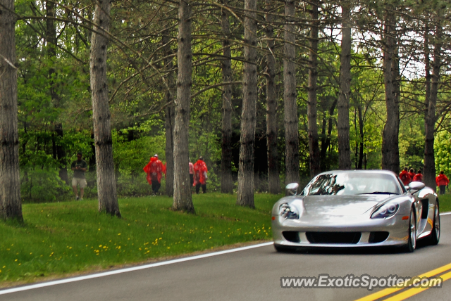 Porsche Carrera GT spotted in Saratoga Springs, New York
