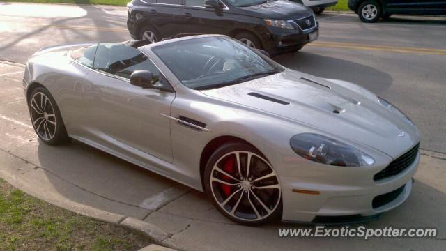 Aston Martin DBS spotted in Highland Park, Illinois