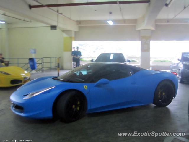 ferrari 458 italia spotted in jakarta indonesia - Ferrari 458 Italia Blue