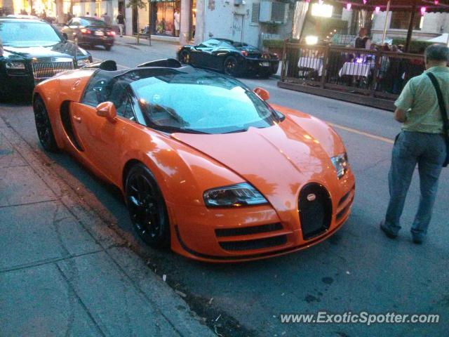 Bugatti Veyron spotted in Montreal, Canada