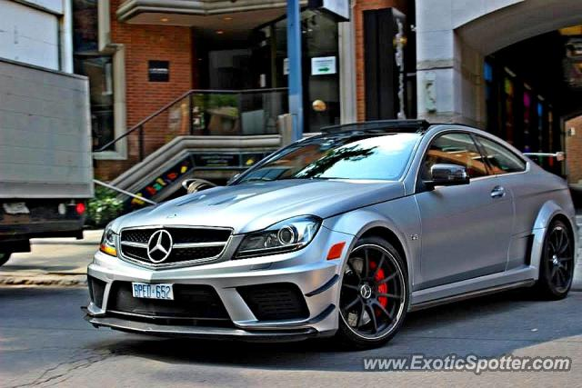 Mercedes C63 AMG Black Series spotted in Toronto, Canada