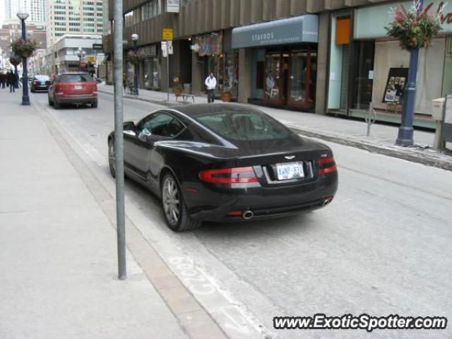 Aston Martin DB9 spotted in Toronto, Canada