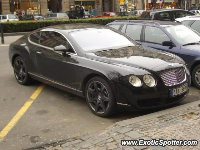 Bentley Continental spotted in Prag, Czech Republic