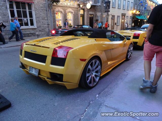 Lamborghini Gallardo Spotted In Old Quebec Canada On 06 22 2013