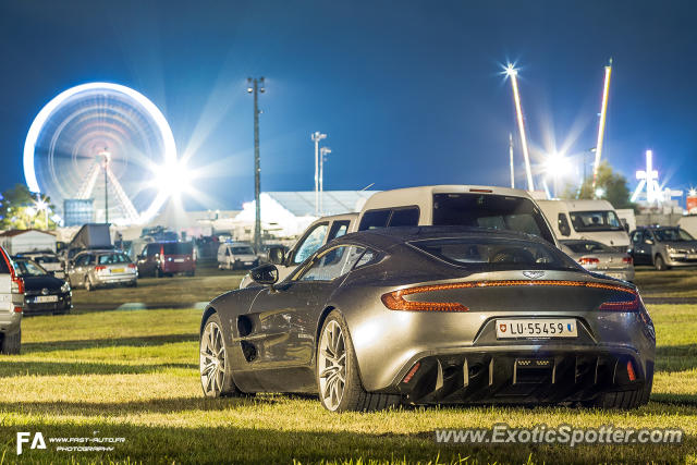 Aston Martin One-77 spotted in Le Mans, France