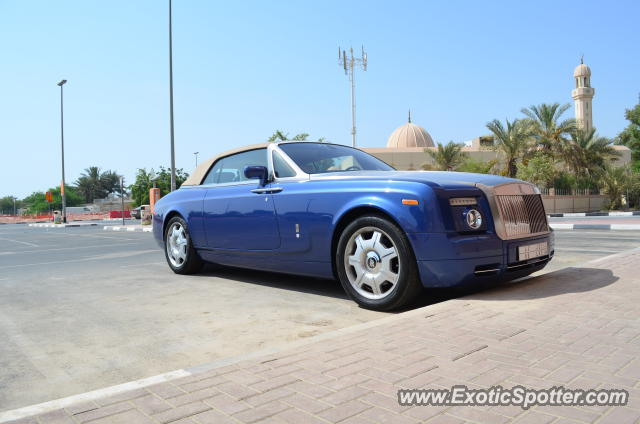 Rolls Royce Phantom spotted in Dubai, United Arab Emirates