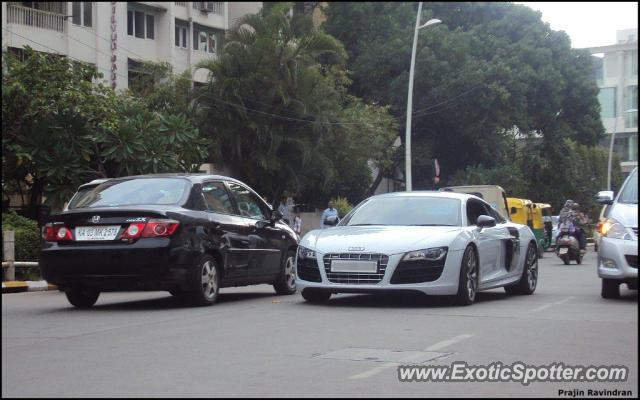 audi r8 spotted in bangalore india on 07 06 2013. Black Bedroom Furniture Sets. Home Design Ideas