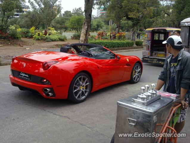 Ferrari California spotted in Baguio, Philippines