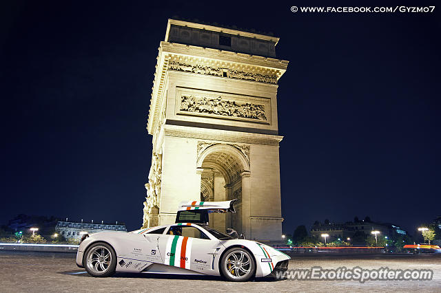 Pagani Huayra spotted in Paris, France