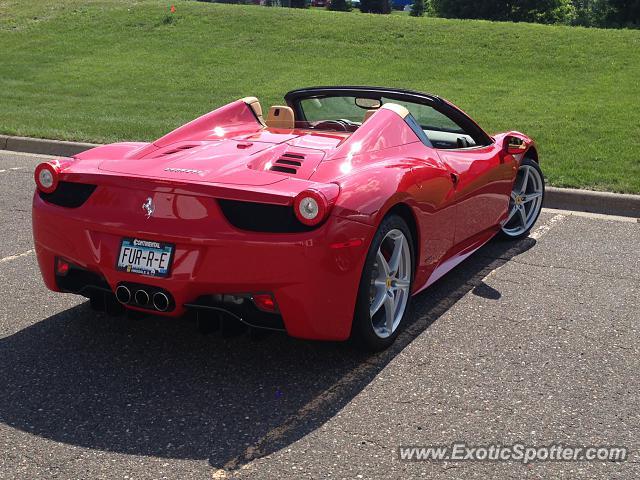 Ferrari 458 Italia Spotted In Minneapolis Minnesota On 07 02 2013