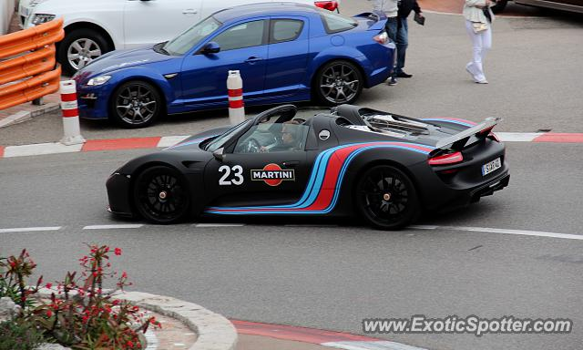 porsche 918 spyder spotted in monte carlo monaco on 04 20. Black Bedroom Furniture Sets. Home Design Ideas