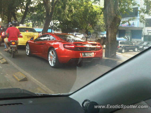 Mclaren MP4-12C spotted in Jakarta, Indonesia on 07/29/2013