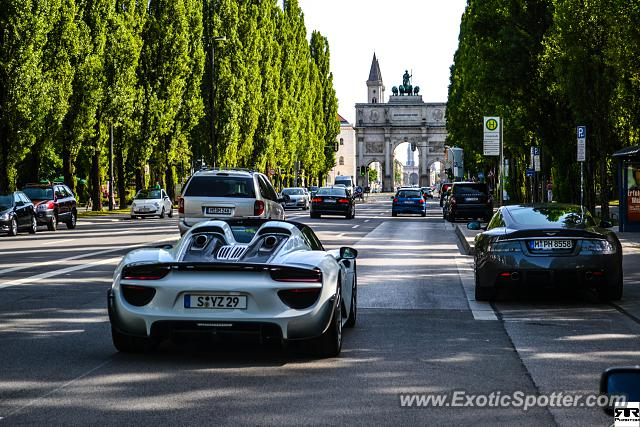 porsche 918 spyder spotted in munich germany on 08 03 2013. Black Bedroom Furniture Sets. Home Design Ideas