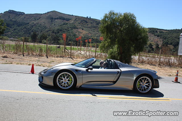Porsche 918 Spyder spotted in Monterey, California