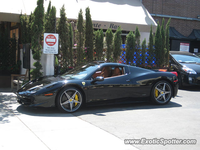 ferrari 458 italia spotted in beverly hills california on 07 27 2013. Cars Review. Best American Auto & Cars Review