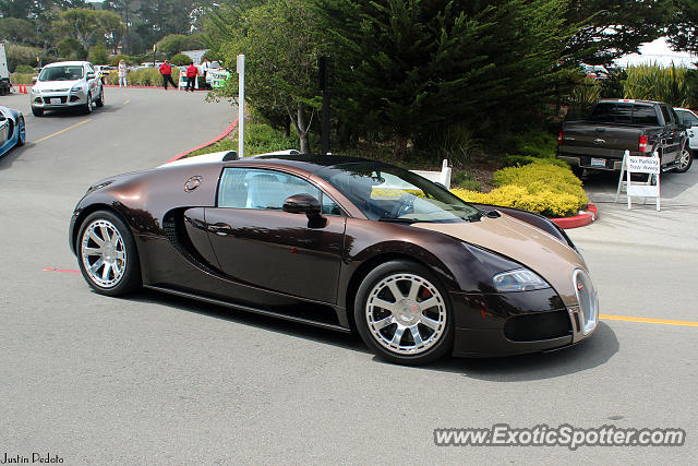 Bugatti Veyron spotted in Pebble Beach, California