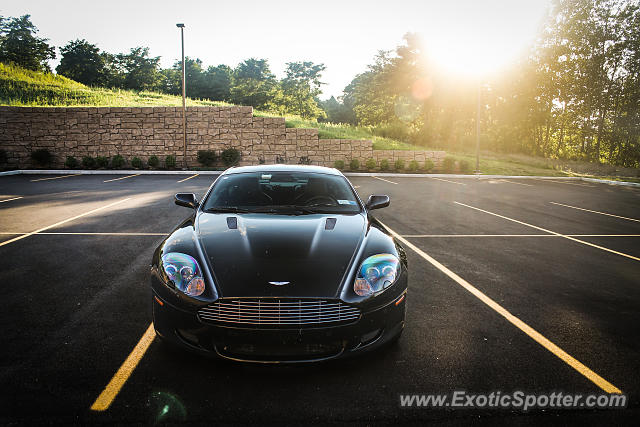 Aston Martin DB9 spotted in Oneonta, New York