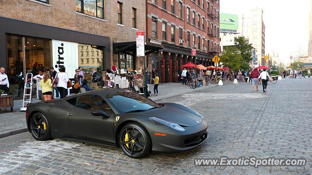 Ferrari 458 Italia Spotted In Manhattan New York On 10 05 2013