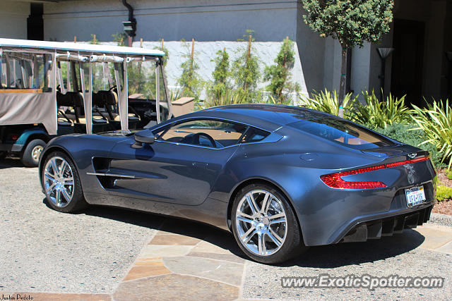 Aston Martin One-77 spotted in Pebble Beach, California