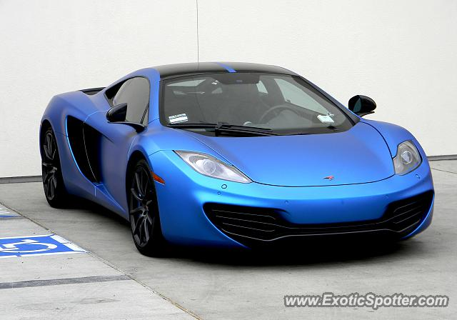 Mclaren MP4-12C spotted in Beverly Hills, California