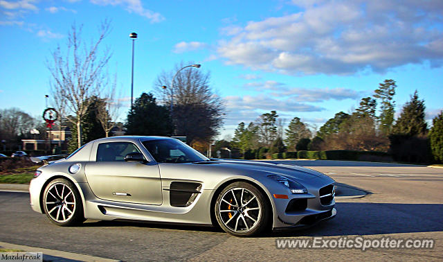 Mercedes SLS AMG spotted in Cary, North Carolina