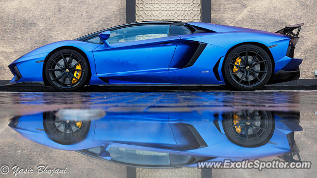 Lamborghini Aventador spotted in Dubai, United Arab Emirates