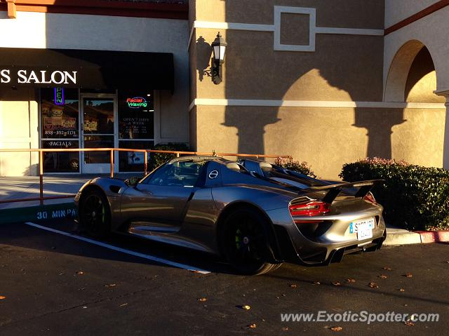 Porsche 918 Spyder spotted in San Diego, California