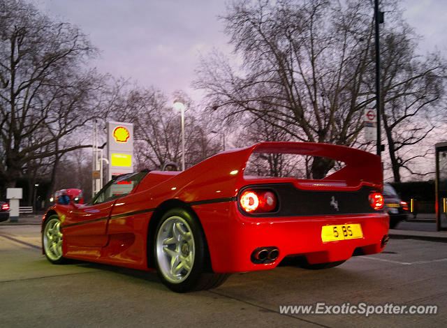 Ferrari F50 spotted in London, United Kingdom