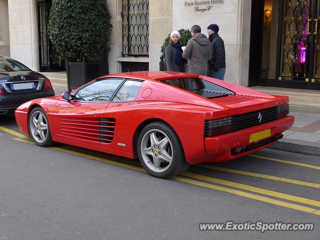 ferrari testarossa spotted in paris france on 02 01 2014 photo 2. Black Bedroom Furniture Sets. Home Design Ideas