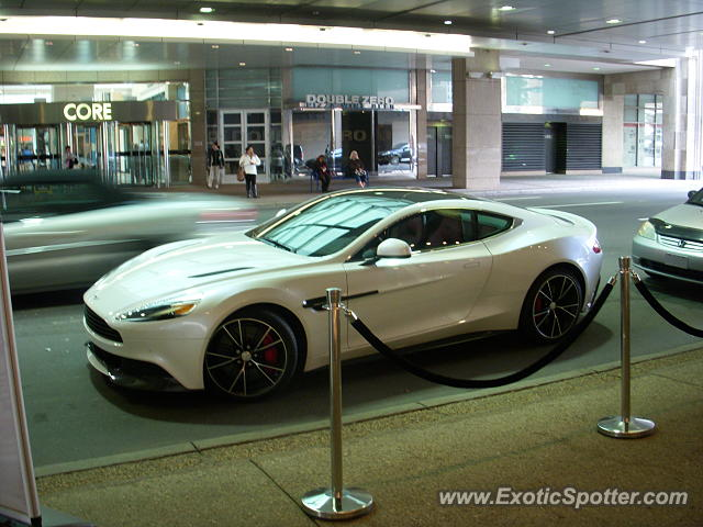 Aston Martin Vanquish spotted in Calgary, Canada