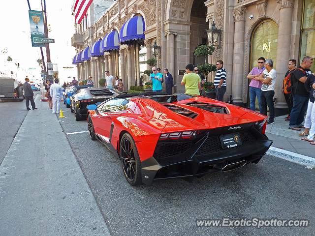 Lamborghini Aventador spotted in Beverly Hills, California