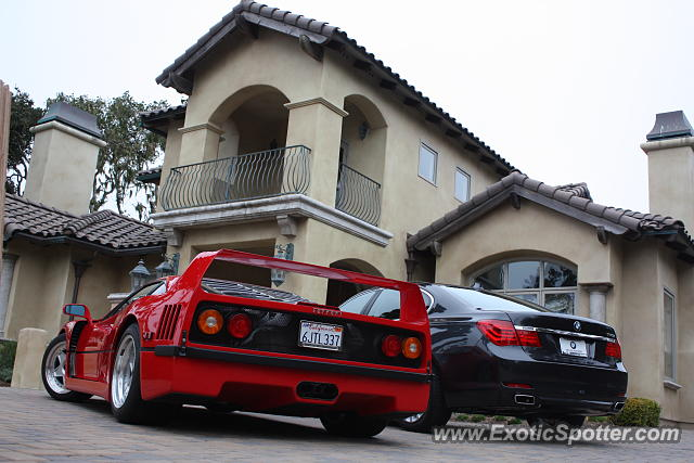 Ferrari F40 spotted in Pebble Beach, California