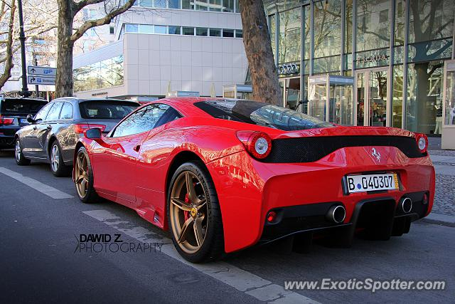 ferrari 458 italia spotted in berlin germany on 02 22 2014. Black Bedroom Furniture Sets. Home Design Ideas