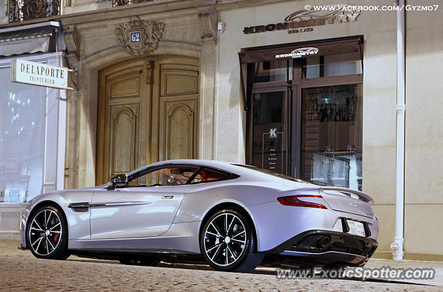 aston martin vanquish spotted in paris france on 02 27 2014. Black Bedroom Furniture Sets. Home Design Ideas