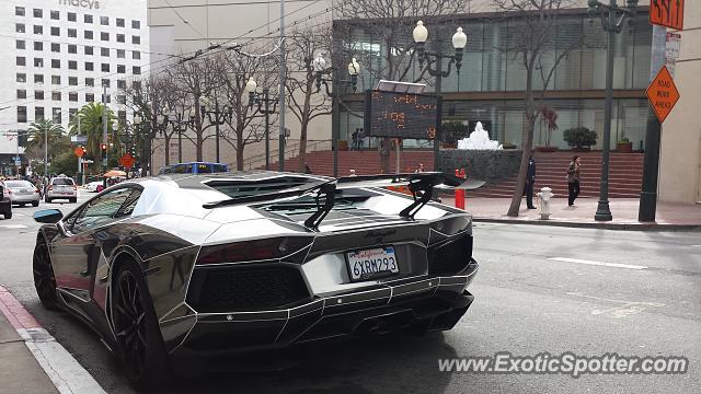 Awesome Lamborghini Aventador Spotted In San Francisco, California