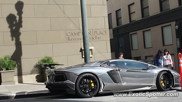 Superb Lamborghini Aventador Spotted In San Francisco, California