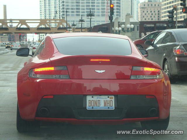 Aston Martin Vantage spotted in Chicago, Illinois