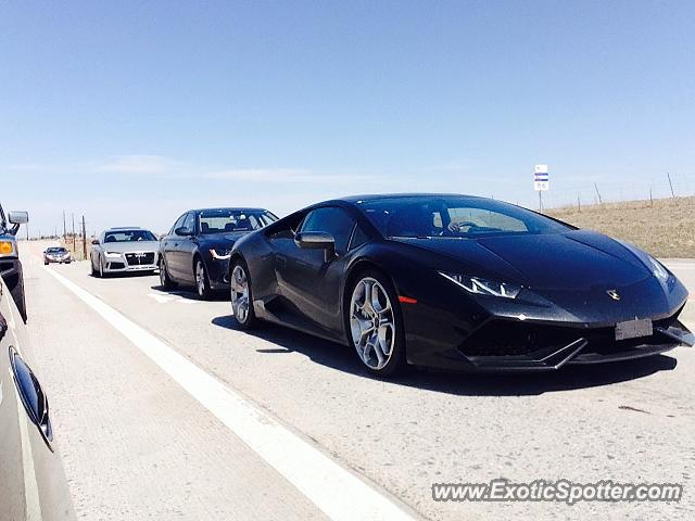 Lamborghini Huracan spotted in Castle rock, Colorado