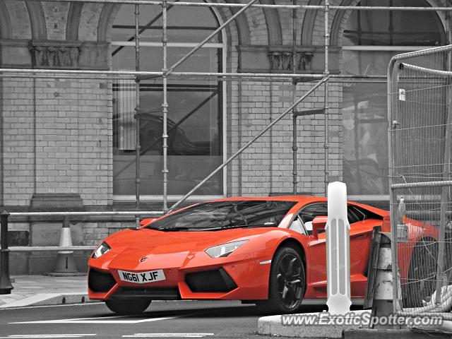 Lamborghini Aventador spotted in Douglas, United Kingdom