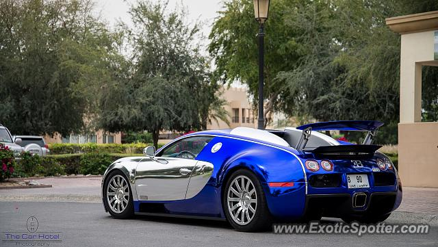 Bugatti Veyron spotted in Dubai, United Arab Emirates