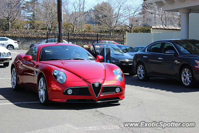 alfa romeo 8c spotted in greenwich connecticut on 04 06 2014. Black Bedroom Furniture Sets. Home Design Ideas