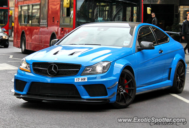 Mercedes C63 Amg Black Series Spotted In London United