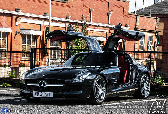 Mercedes SLS AMG spotted in Bolton, United Kingdom