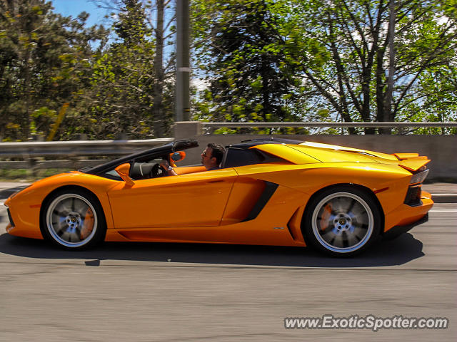 lamborghini aventador spotted in vaughan ontario canada on 05 24 2014 photo 2. Black Bedroom Furniture Sets. Home Design Ideas