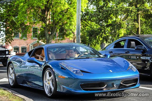 ferrari 458 italia spotted in greenwich connecticut - Ferrari 458 Italia Blue