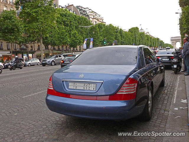 mercedes maybach spotted in paris france on 06 17 2014. Black Bedroom Furniture Sets. Home Design Ideas